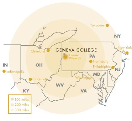 美国日内瓦学院地理位置
