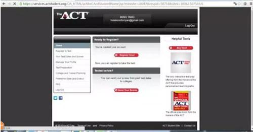 ACT考试报名流程