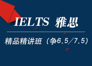 雅思精品精讲班(争6.5/7.5分)(4-6人班)