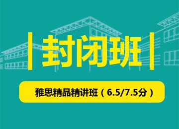 封闭班-雅思精品精讲班(争6.5/7.5)(25人班)