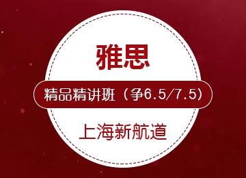 雅思精品精讲班(争6.5/7.5分)(6-8人班)