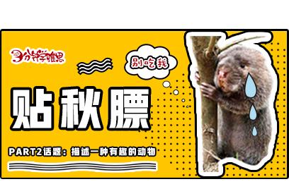 新航道V课堂|三分钟学雅思:养秋膘的季节,我们又多了一个吃竹鼠的理由!